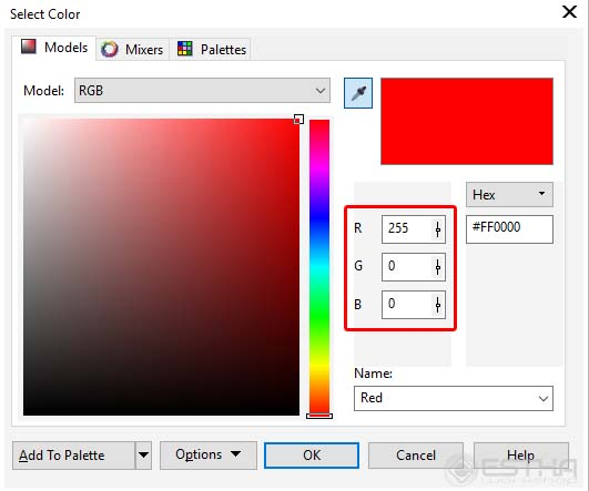 corel color setting