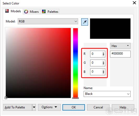 corel color setting engrave